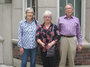 Mary Kay (Hartman) Winter ('61), Nancy Caldicott ('61) and Stephen Hartman ('57) took in a tour of the school